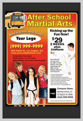martial arts flyers