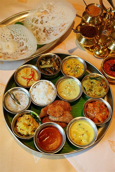 a traditional south indian sattvik meal fit for a king from the kitchens of dakshin itc