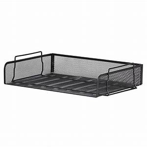 mesh letter tray a4 landscape black staplesr With staples black wire mesh stackable letter tray