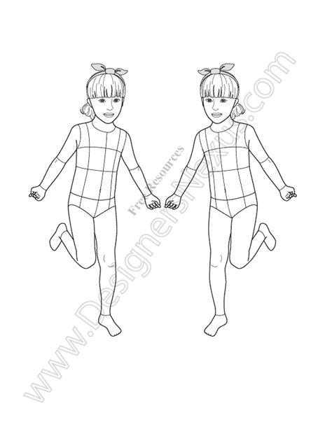 fashion sketch template v20 croquis free template designers nexus