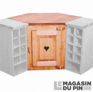 Meuble D Angle Haut Cuisine : meuble haut d 39 angle 1 porte cuisine chamonix en pin massif le magasin ~ Teatrodelosmanantiales.com Idées de Décoration