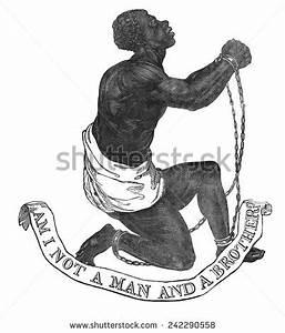 Not Man Society Abolition Slavery England Stock ...