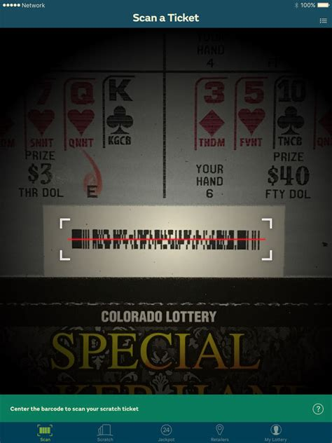 scan lottery tickets at home colorado lottery scan tickets to enter drawings on the