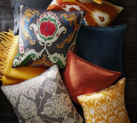 Pottery Barn Large Decorative Pillows by Pottery Barn Printed And Patterned Pillows