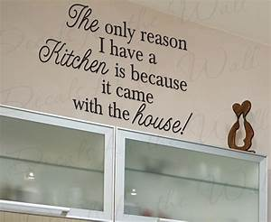 wall quote decal sticker vinyl art letter the kitchen came With kitchen cabinets lowes with wall art stickers quotes