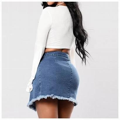 Skirt Denim Waist Skirts Jupe Short Jeans