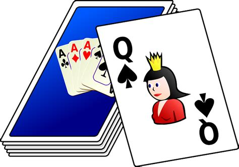 playing cards deck  vector graphic  pixabay