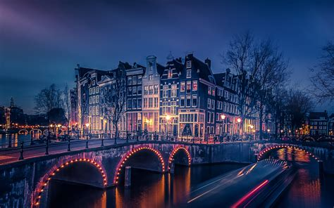 amsterdam night cityscape wallpapers hd wallpapers