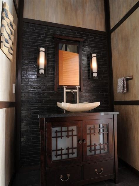 asian inspired home deco asian powder room design