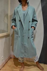 Bleu Vert Couleur : trench de couleur bleu vert johanna paris c0012824 johanna ~ Melissatoandfro.com Idées de Décoration