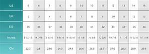 Shoe Sizing Chart Avheels