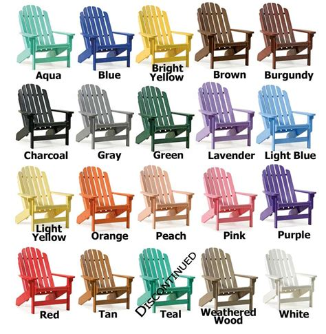 adirondack chairs colors siesta recycled furniture bayfront adirondack folding chair