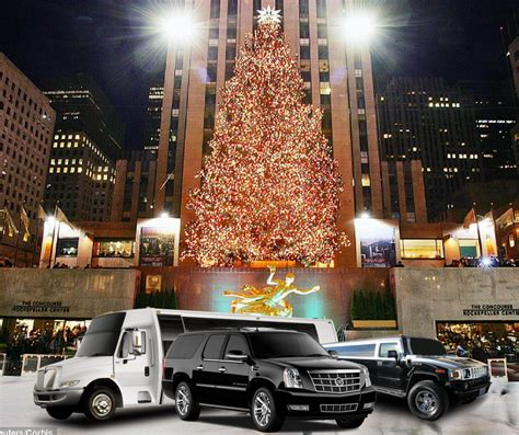 limo christmas light tour manhattan holiday light tour limo service