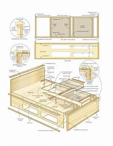 plans to build a platform bed with drawers Quick
