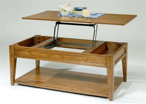 Walnut medium rectangle wood coffee table with lift top. Lift Top Coffee Tables With Storage   Roy Home Design