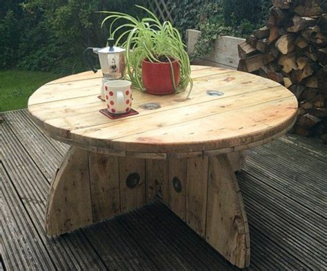 Customiser Une Table Basse 1001 Id 233 Es Que Faire Avec Un Touret Des Inspirations R 233 Cup
