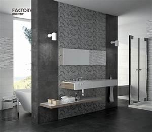 Carrelage Et Salle De Bain : carrelage sol salle de bain cuisine et terrasse mural factory gris 20x50 cm carrelage mural ~ Melissatoandfro.com Idées de Décoration