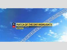 BBC Match of the Day FA Cup Semifinals Highlights