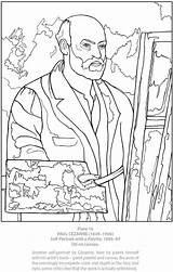Coloring Portrait Self Pages Dover Adult Cezanne Series Paul Doverpublications Publications Unfortunate Events Template Paintings Sheets Kleurplaten Famous Teaching Portraits sketch template