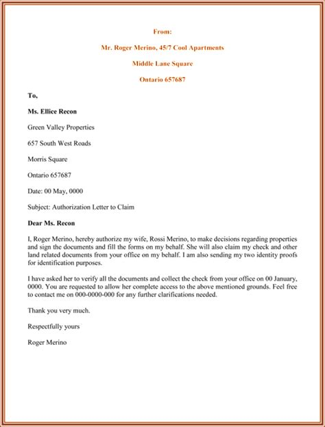 authorization letter sles formats templates