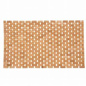 tapis de bain caillebotis bambou naturel tapis salle de With tapis salle de bain bambou