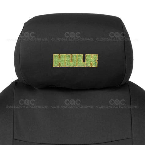 Black Full Set Car Seat Covers Hulk Headrests W Split