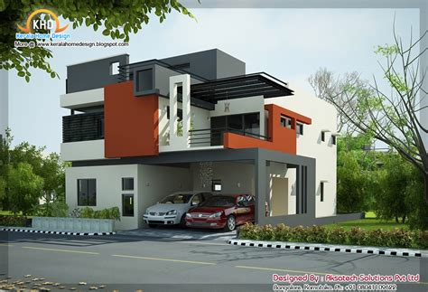 modern contemporary house 2 beautiful modern contemporary home elevations kerala
