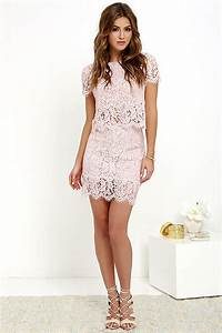 sexy blush pink two piece dress lace two piece dress With two piece dresses for wedding guest