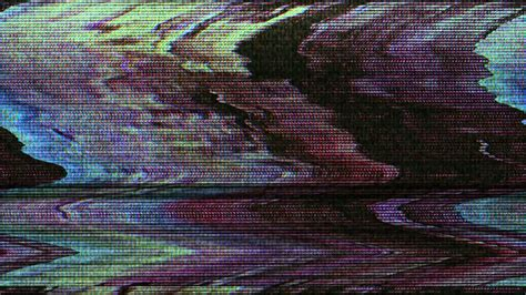 Tv Failure And Broadcast Glitch Abstract Technology