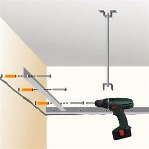Pose D Un Faux Plafond En Ba13 : poser un faux plafond en plaques de pl tre plafond ~ Melissatoandfro.com Idées de Décoration