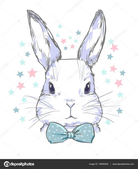 cartoon cute bunny head stock vector  alsoush