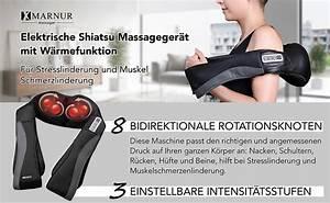 Massagegerät Rücken Nacken : massageger t mit w rmefunktion f r schulter nacken r cken marnur nackenmassagege ebay ~ Orissabook.com Haus und Dekorationen