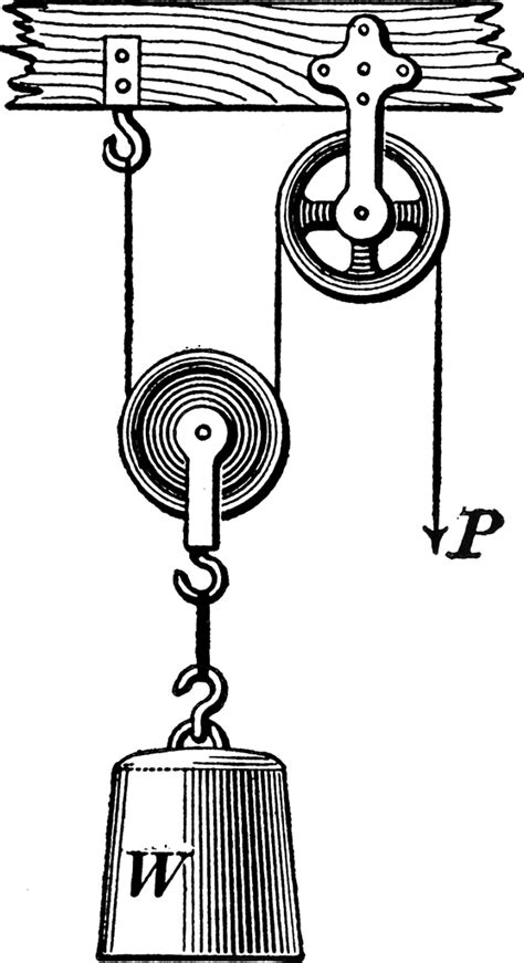 movable pulley clipart