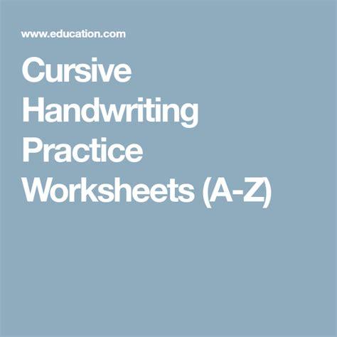 cursive handwriting practice worksheets    images