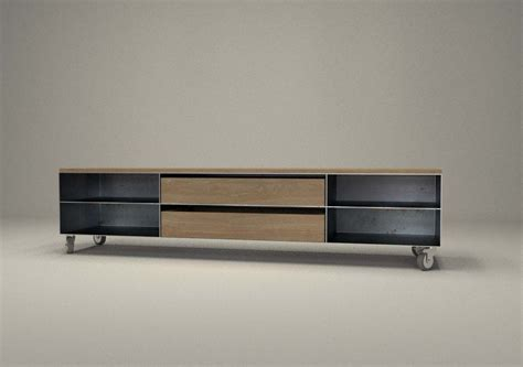 Einfamilienhaus Sideboard Fuer Kaminholz by Design Metallmoebel Tv Sideboard Mit Rollen Kaminholz