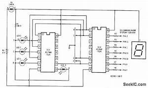 Bcd Decoder 2 - Basic Circuit - Circuit Diagram