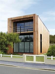 maisons a toit plat en ossature bois With maison toit plat bois