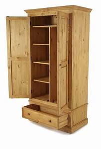 Armoire En Pin Massif : armoire en pin massif 2 portes 1 tiroir grenier alpin ~ Teatrodelosmanantiales.com Idées de Décoration