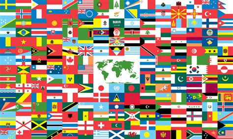 country flags map pictures