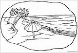 Beach Scene Pages Coloring sketch template