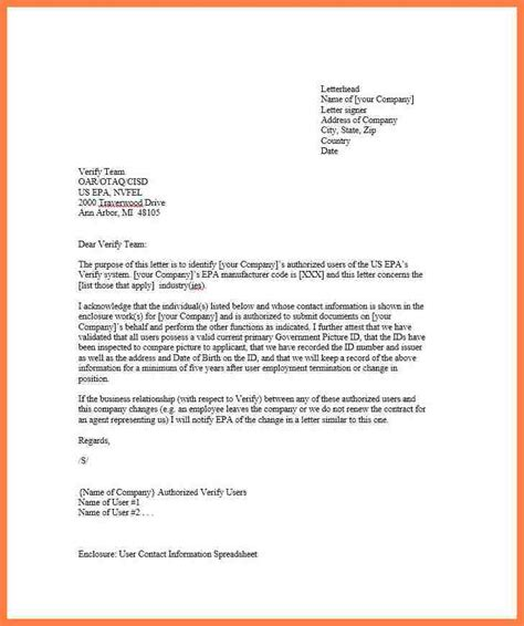 company authorization letter sample company letterhead