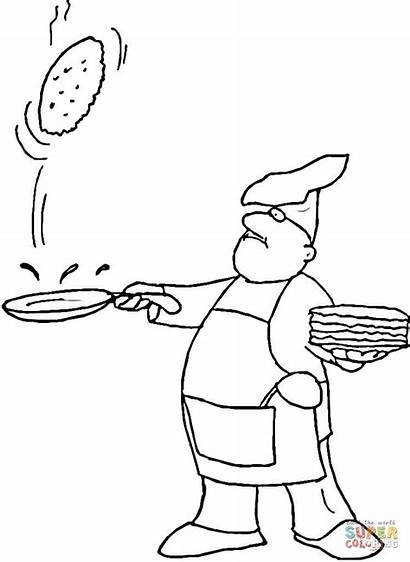 Crepes Coloriage Faire Sauter Ausmalbilder Pancake Coloring
