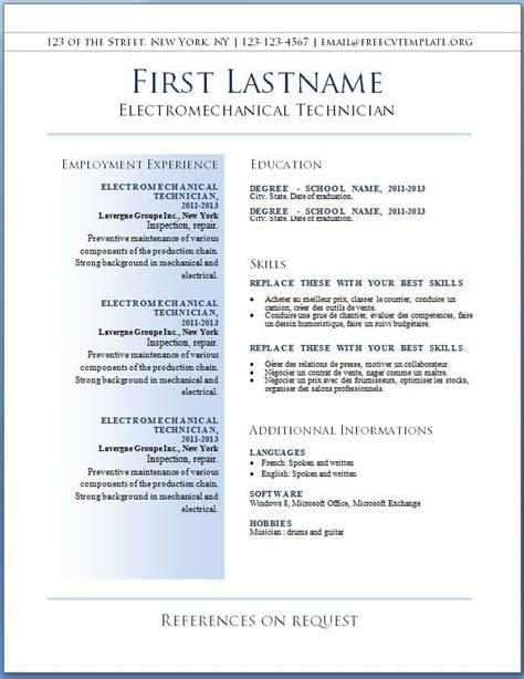 best templates for resumes gfyork