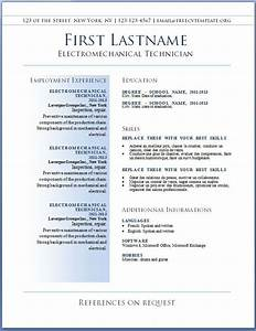 Resumes  The Best Resume Template Free Sample And Job