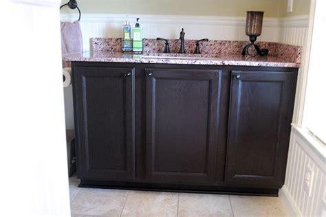 refinishing oak vanity   home oak cabinets