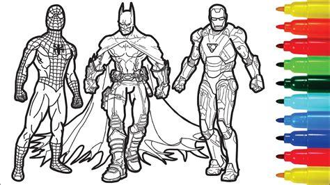 spiderman iron man batman captain america wolverine