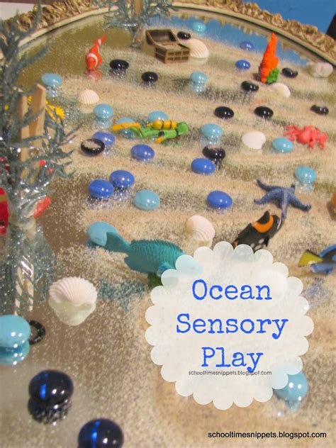 preschool ocean theme unique small world on a mirror school time snippets 906