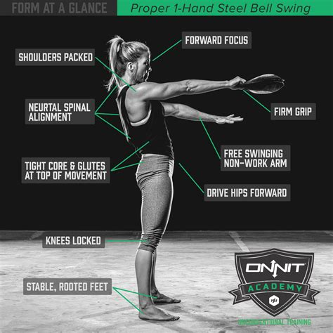 form swing onnit steel bell kettlebell swings hand glance workout exercise academy training exercises club fitness body ropes battle using