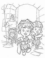 Coloring Brave Merida Pages Disney Colouring Hubert Hamish Harris Brothers Triplets Triplet Printable Three Pixar sketch template
