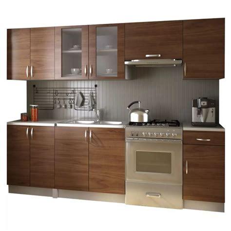 but cuisine en kit acheter meubles de cuisine équipée neufs en kit brun 2 4 m